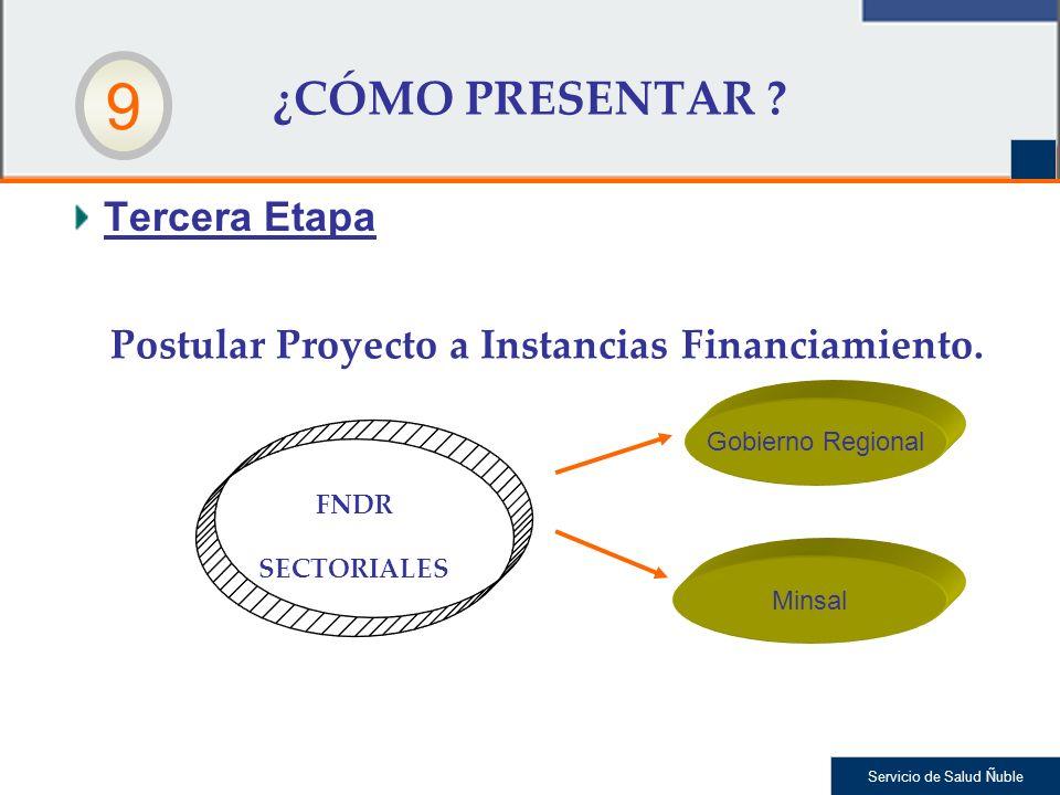 Postular Proyecto a Instancias Financiamiento.