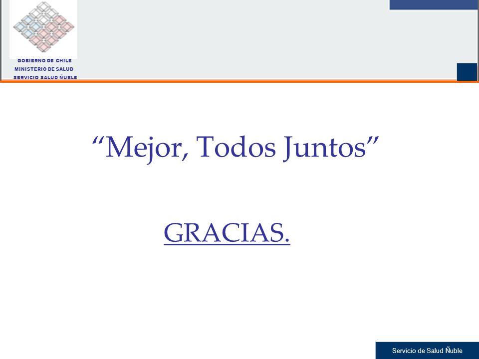 Mejor, Todos Juntos GRACIAS. GOBIERNO DE CHILE MINISTERIO DE SALUD