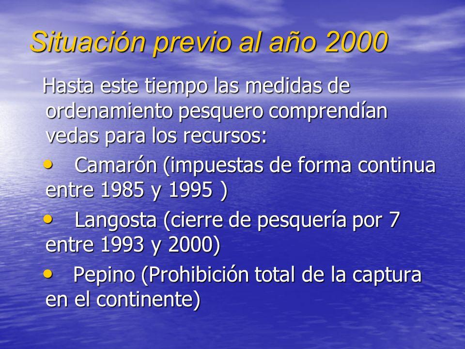 Situación previo al año 2000