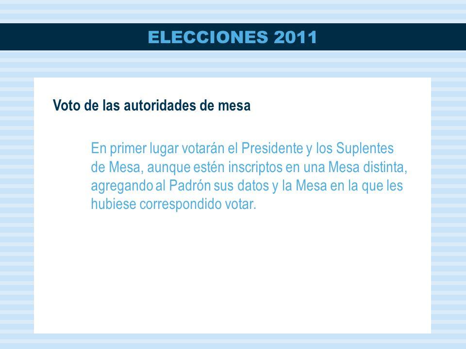 Voto de las autoridades de mesa
