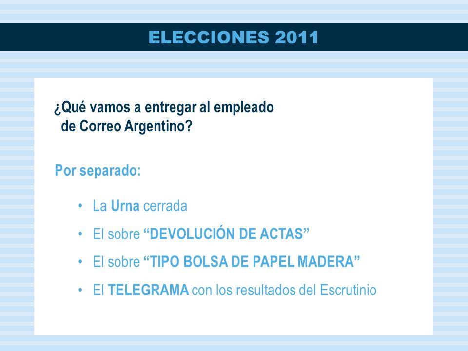 ¿Qué vamos a entregar al empleado de Correo Argentino