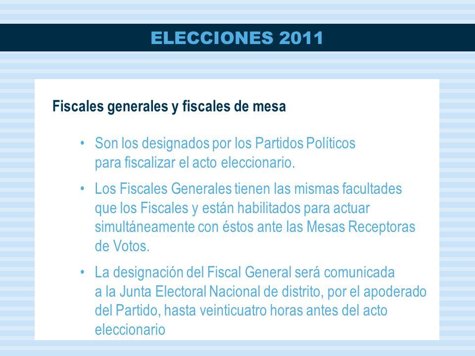 Fiscales generales y fiscales de mesa