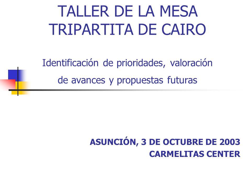 ASUNCIÓN, 3 DE OCTUBRE DE 2003 CARMELITAS CENTER