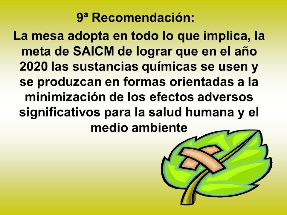 9ª Recomendación:
