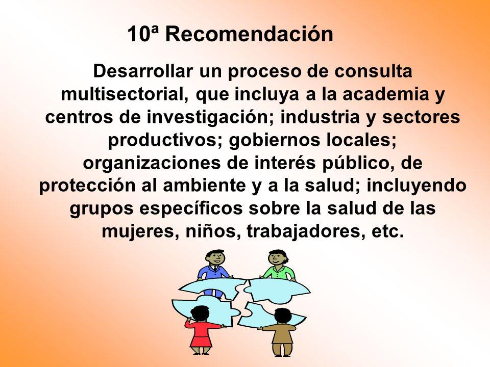 10ª Recomendación