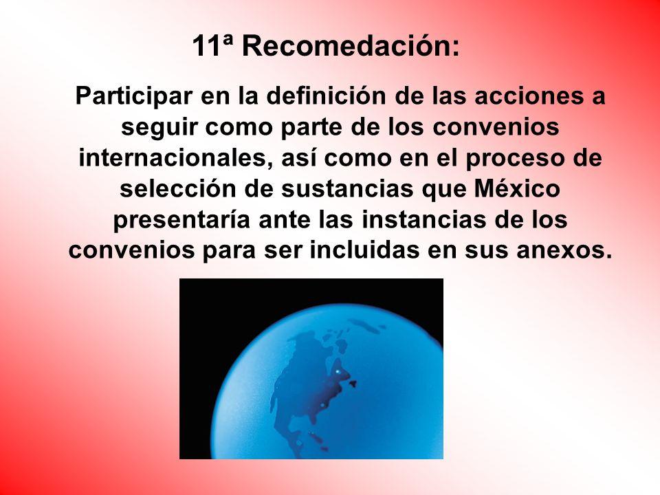 11ª Recomedación: