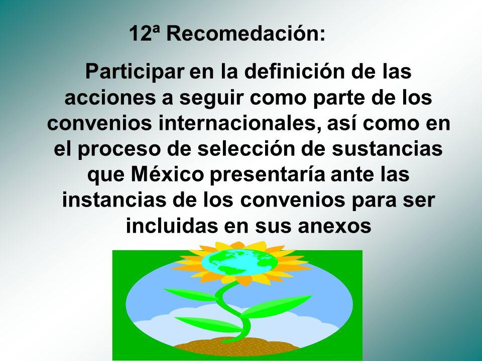 12ª Recomedación:
