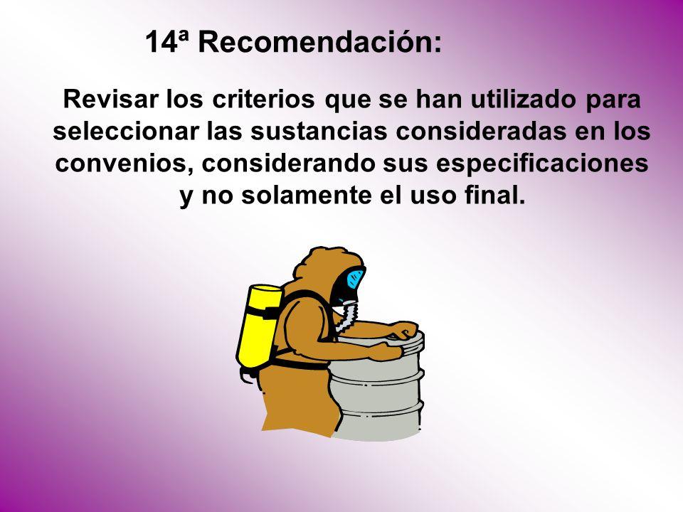 14ª Recomendación: