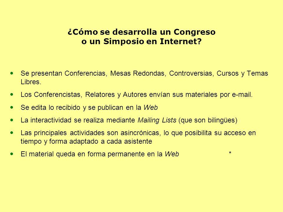 ¿Cómo se desarrolla un Congreso o un Simposio en Internet