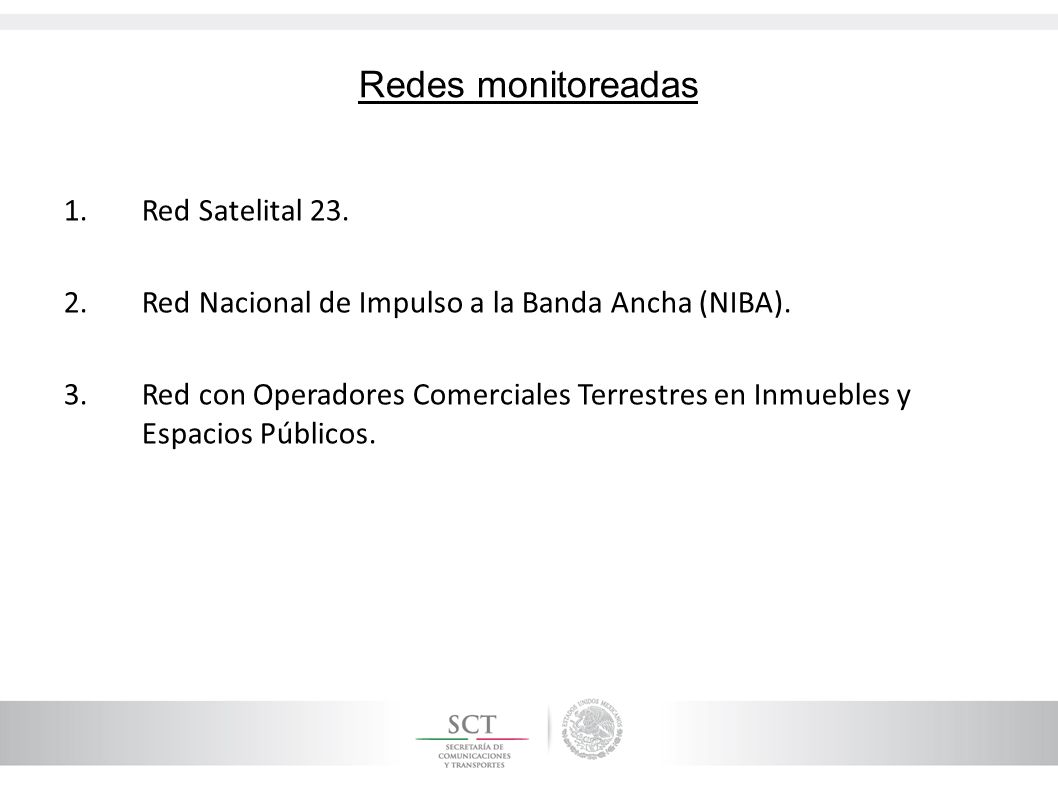 Redes monitoreadas Red Satelital 23.