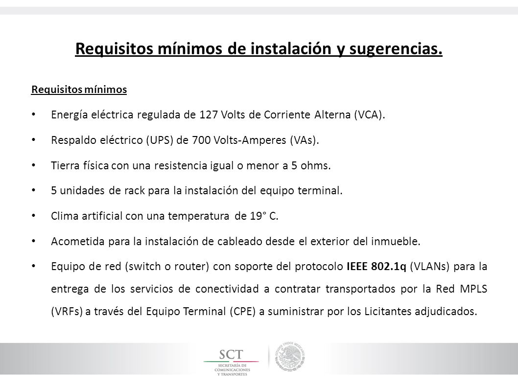Requisitos mínimos de instalación y sugerencias.