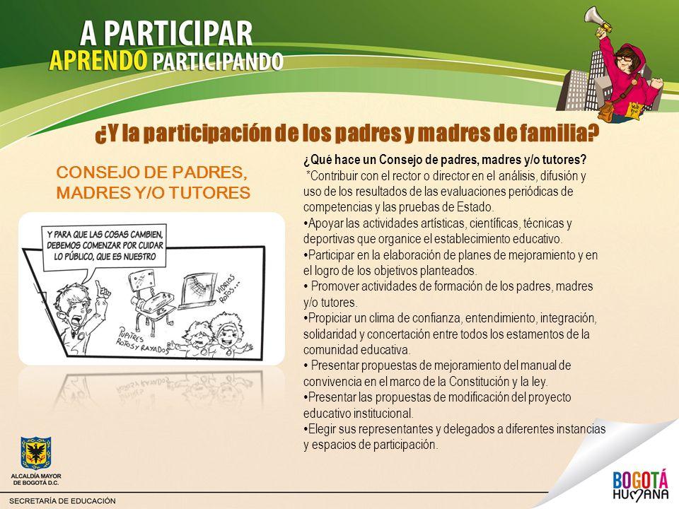 ¿Y la participación de los padres y madres de familia