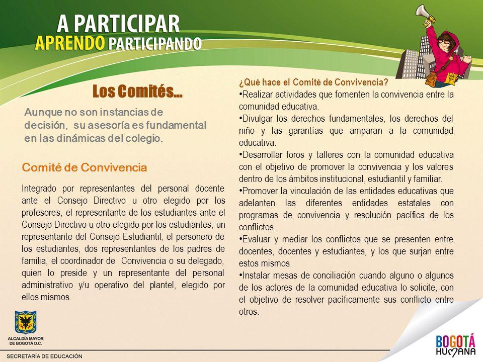 Los Comités… Comité de Convivencia