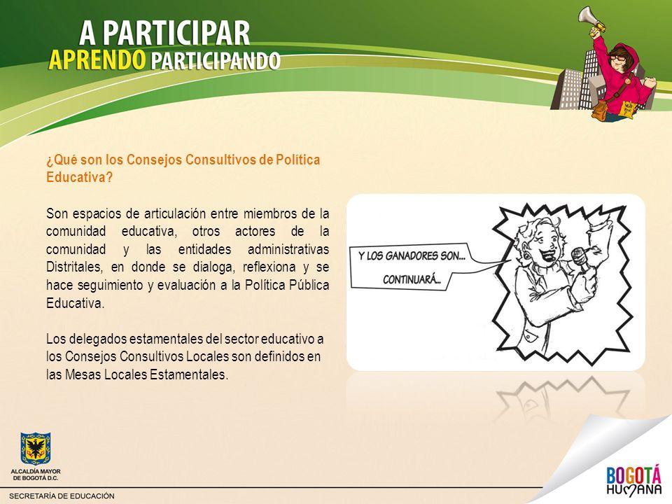 ¿Qué son los Consejos Consultivos de Política Educativa
