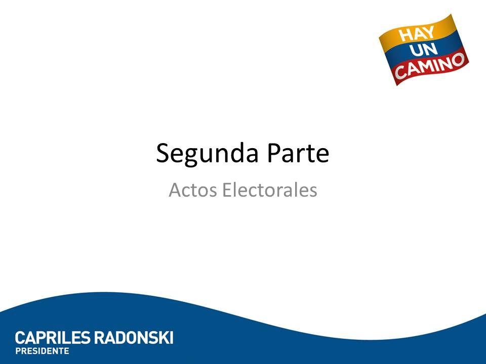 Segunda Parte Actos Electorales
