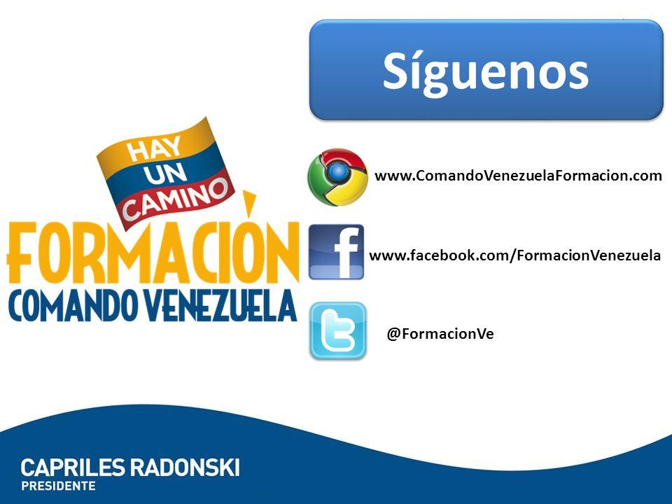 Síguenos www.ComandoVenezuelaFormacion.com