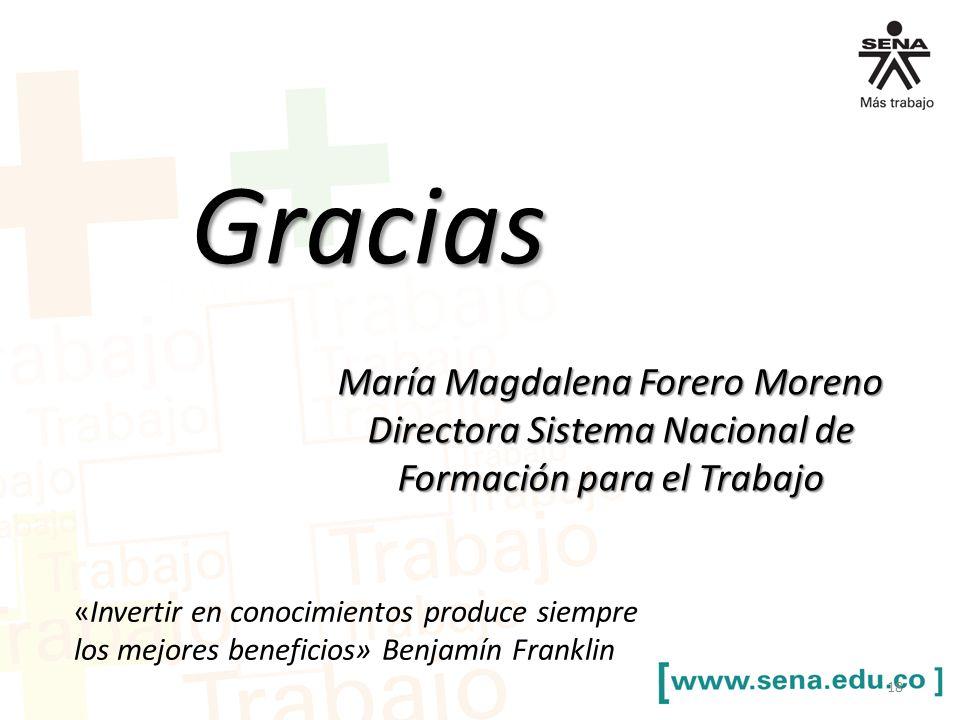Gracias María Magdalena Forero Moreno