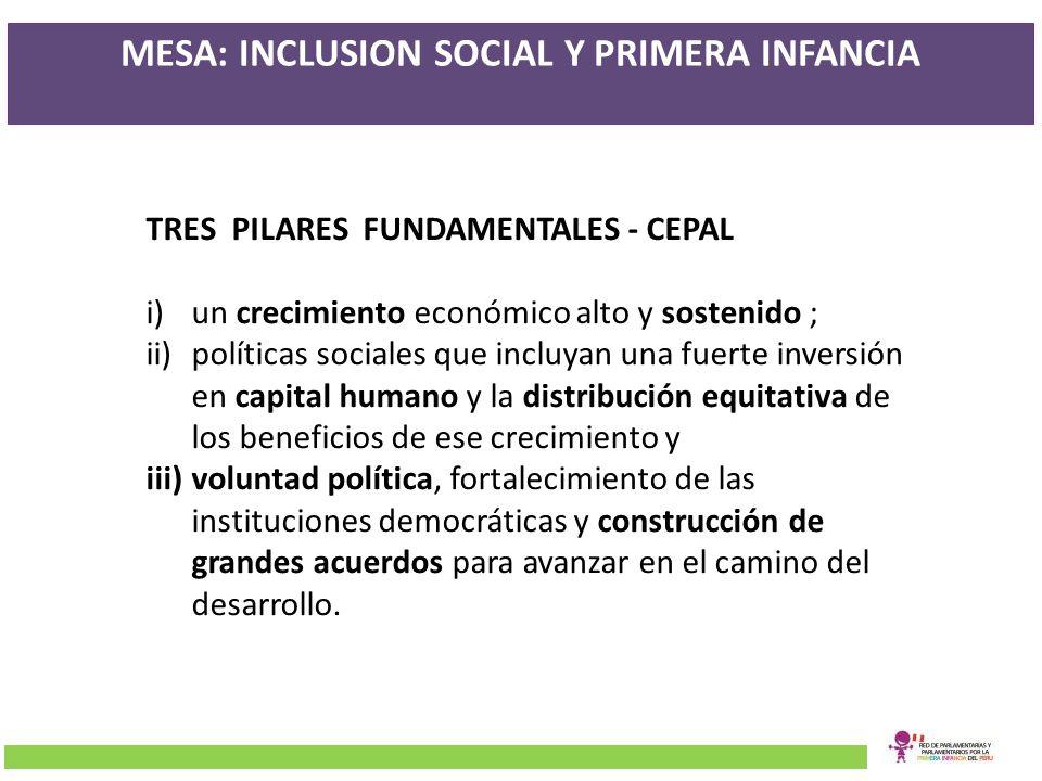 MESA: INCLUSION SOCIAL Y PRIMERA INFANCIA