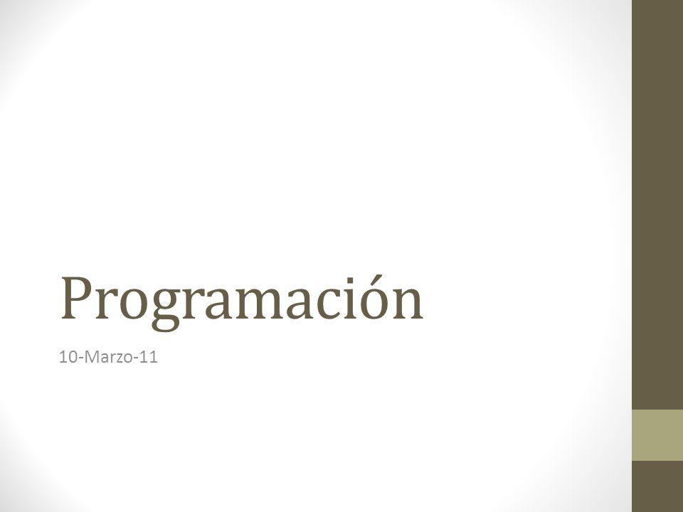 Programación 10-Marzo-11