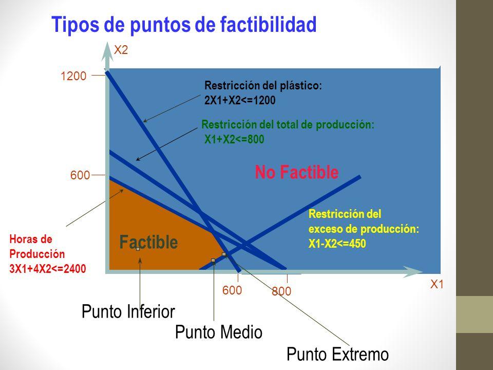 Tipos de puntos de factibilidad