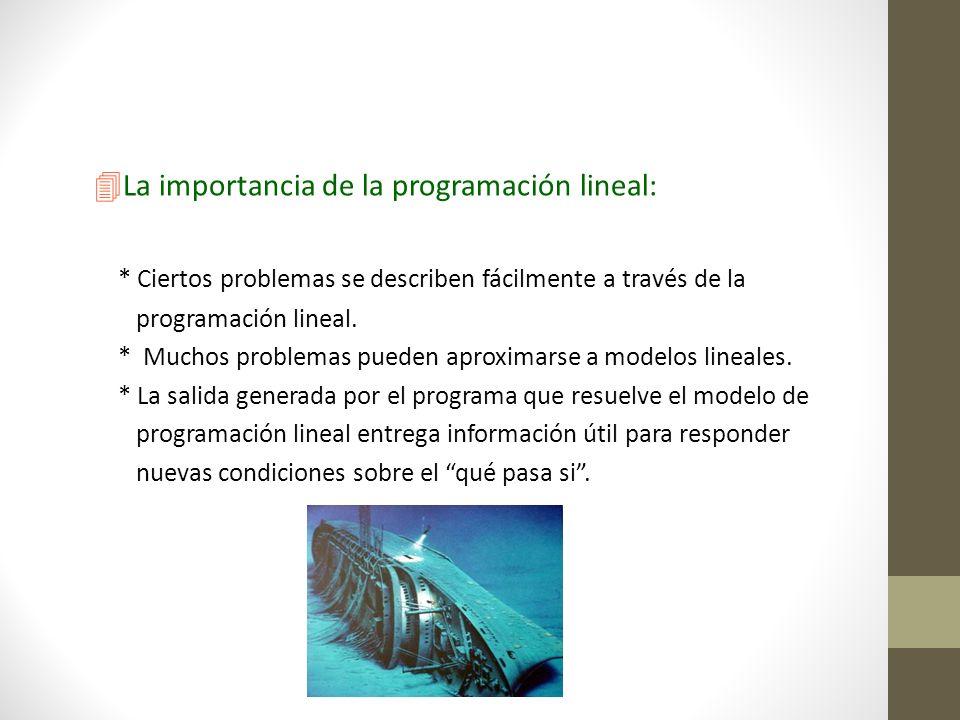 La importancia de la programación lineal: