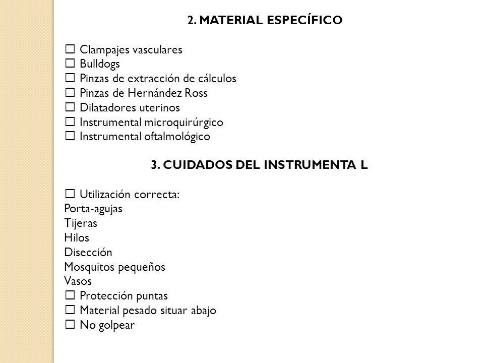 3. CUIDADOS DEL INSTRUMENTA L