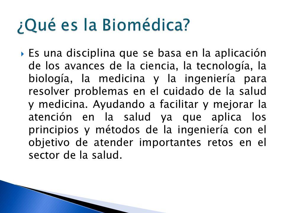 ¿Qué es la Biomédica