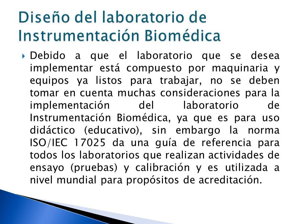 Diseño del laboratorio de Instrumentación Biomédica