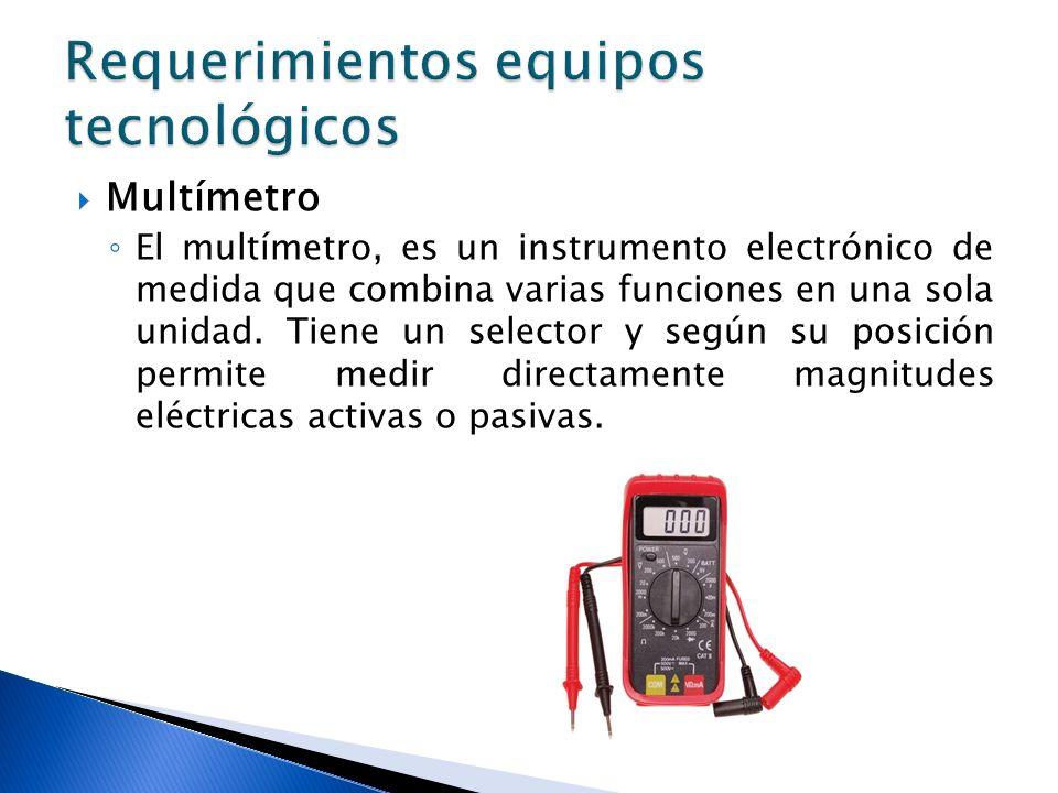 Requerimientos equipos tecnológicos