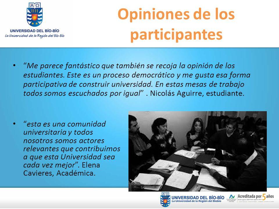 Opiniones de los participantes