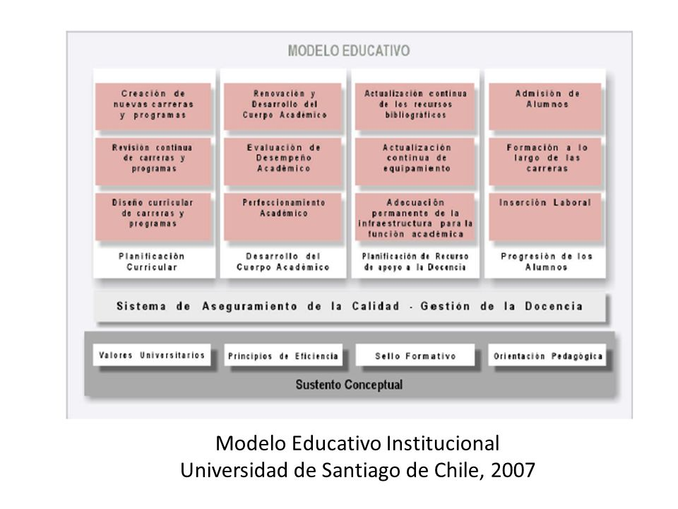 Modelo Educativo Institucional Universidad de Santiago de Chile, 2007