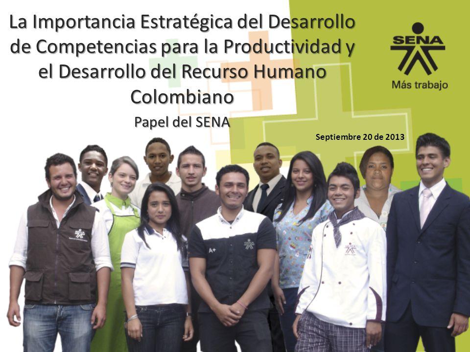 La Importancia Estratégica del Desarrollo de Competencias para la Productividad y el Desarrollo del Recurso Humano Colombiano