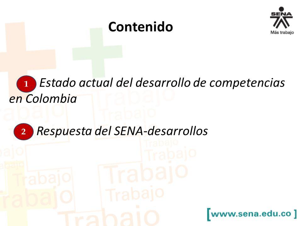 Contenido Estado actual del desarrollo de competencias en Colombia