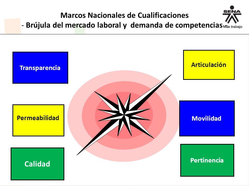 Marcos Nacionales de Cualificaciones - Brújula del mercado laboral y demanda de competencias -