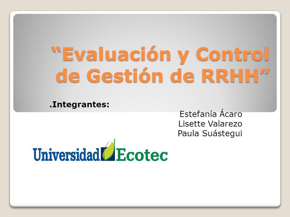 Evaluación y Control de Gestión de RRHH