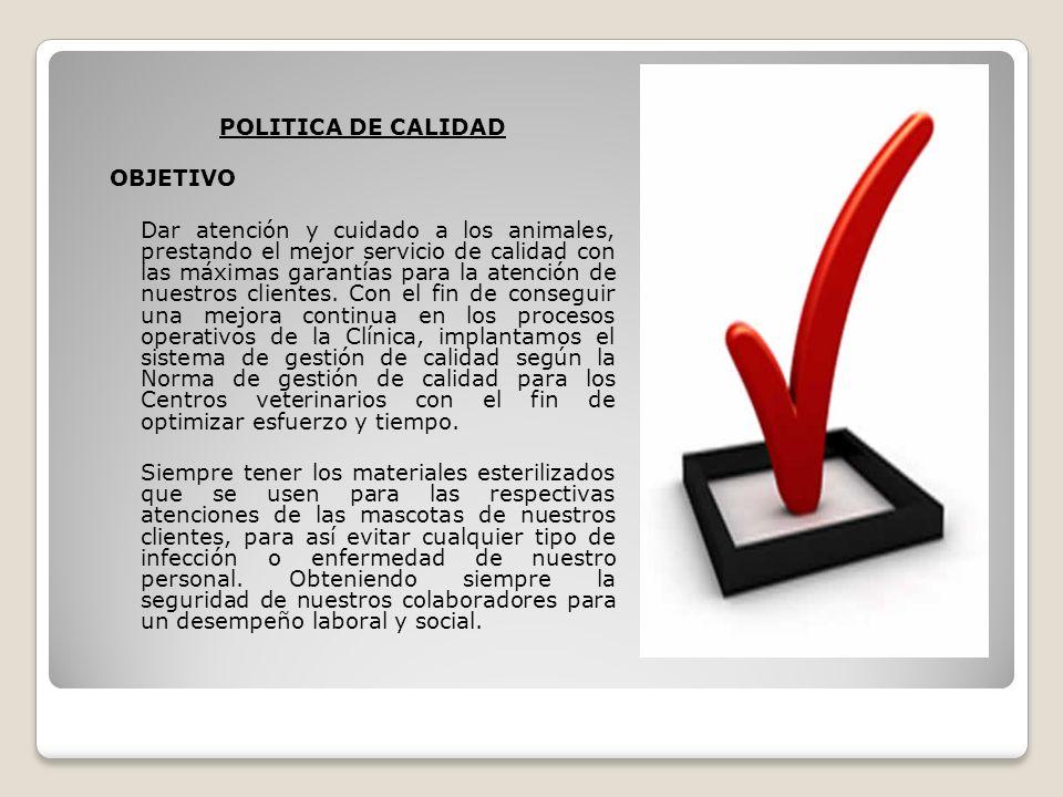 POLITICA DE CALIDAD OBJETIVO.