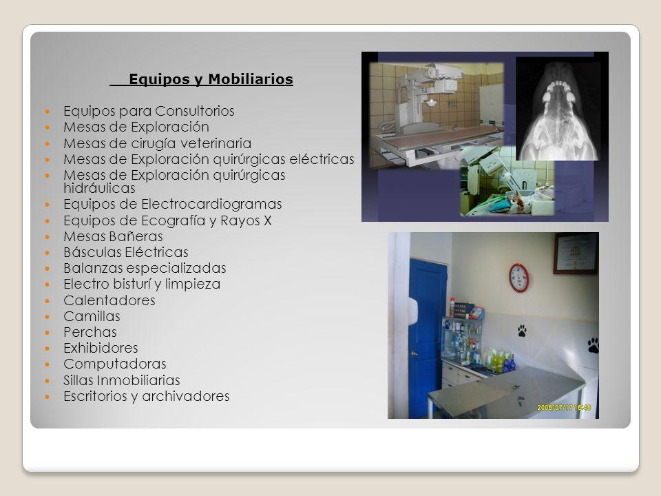 Equipos y Mobiliarios Equipos para Consultorios. Mesas de Exploración. Mesas de cirugía veterinaria.