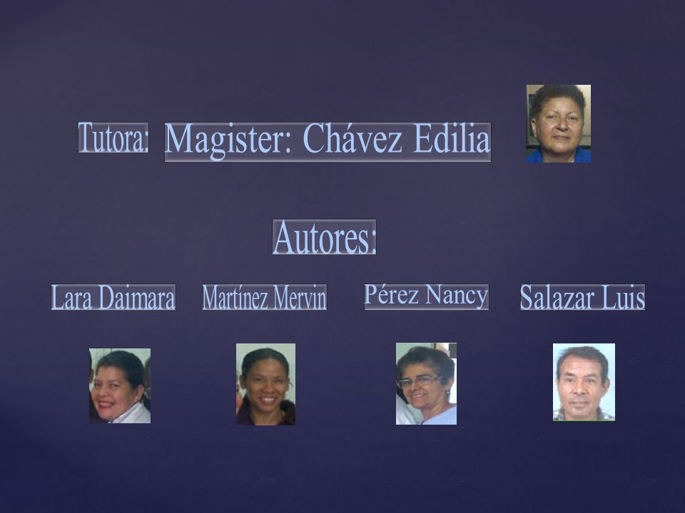 Magister: Chávez Edilia