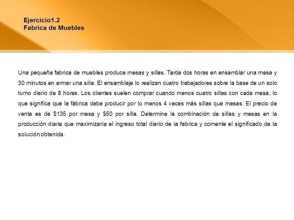 Ejercicio1.2 Fabrica de Muebles