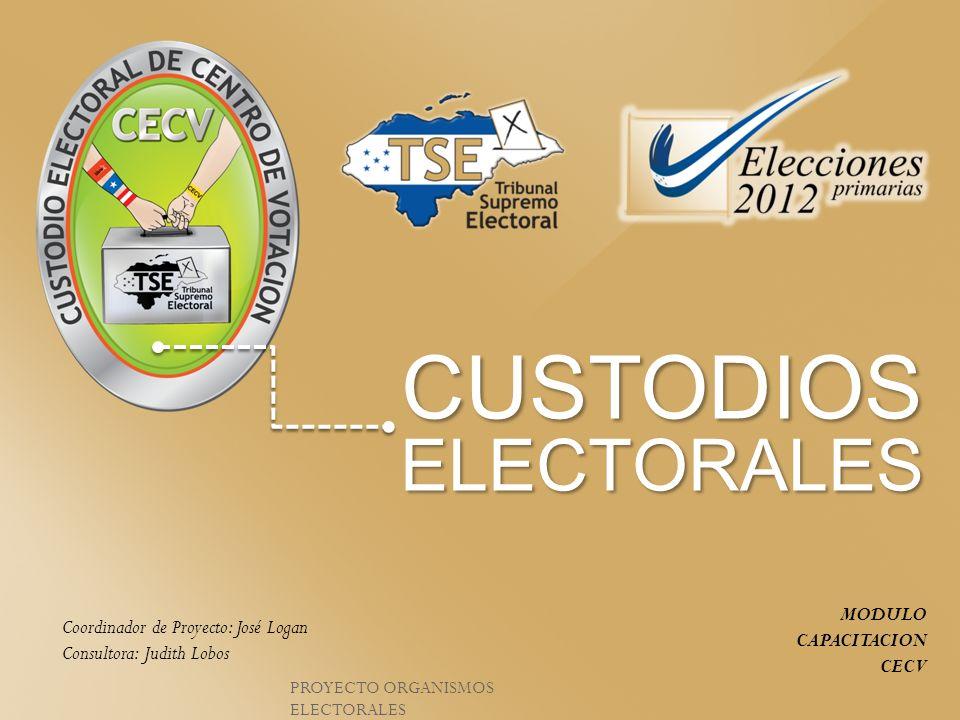 CUSTODIOS ELECTORALES MODULO CAPACITACION CECV