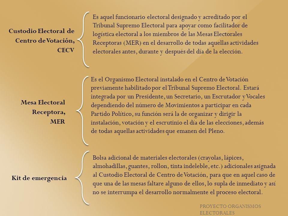 Custodio Electoral de Centro de Votación, CECV