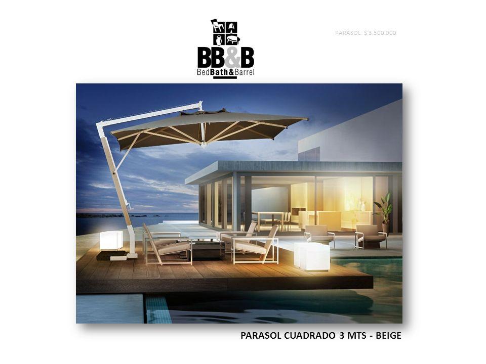 PARASOL CUADRADO 3 MTS - BEIGE