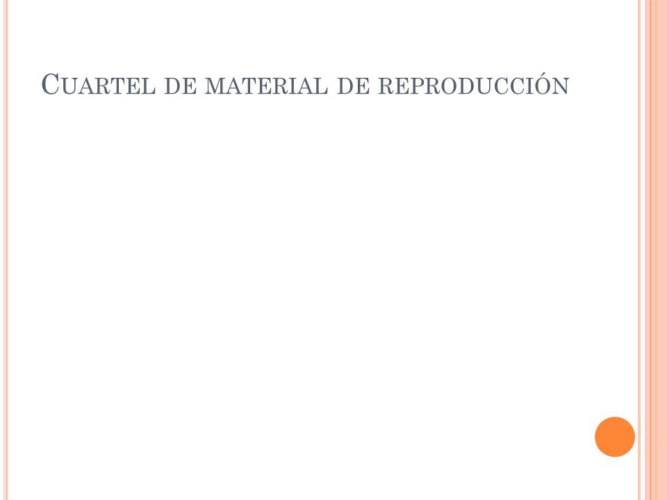 Cuartel de material de reproducción