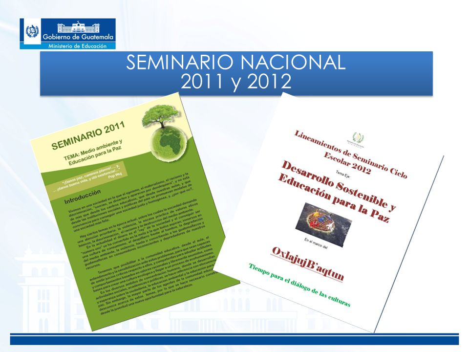 SEMINARIO NACIONAL 2011 y 2012
