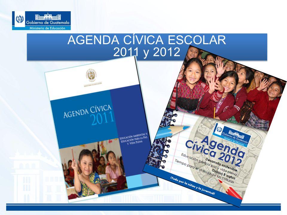 AGENDA CÍVICA ESCOLAR 2011 y 2012