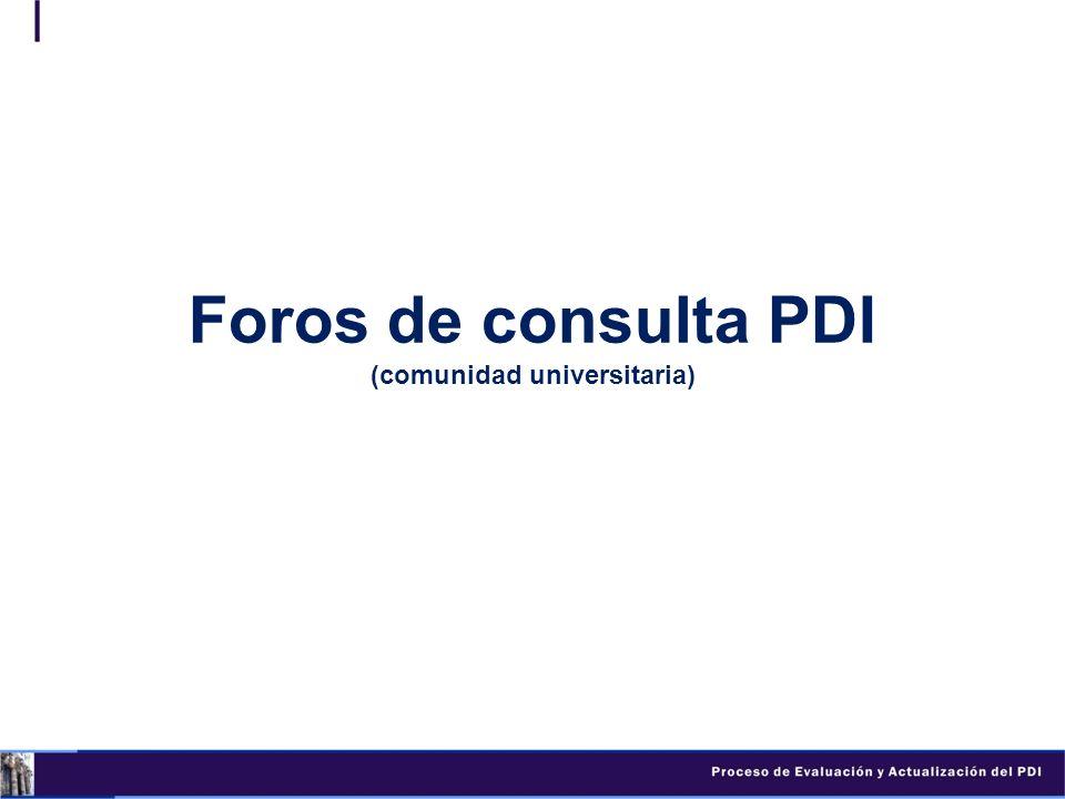 Foros de consulta PDI (comunidad universitaria)