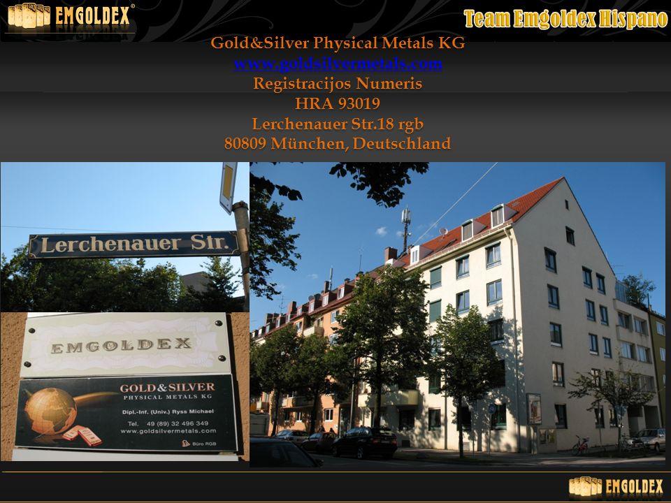 Gold&Silver Physical Metals KG Registracijos Numeris