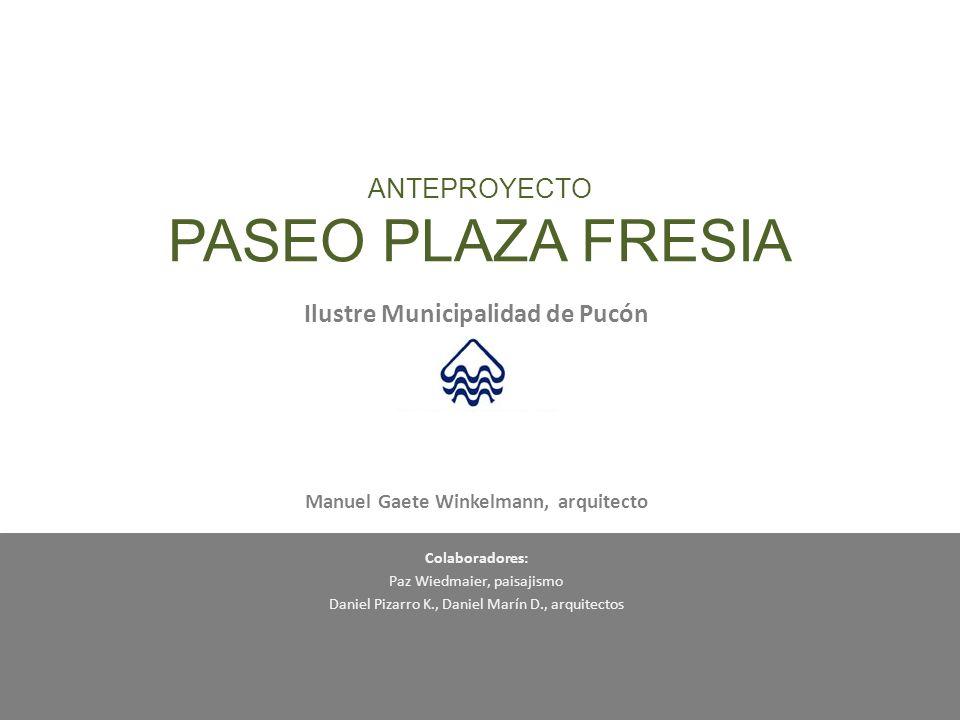 ANTEPROYECTO PASEO PLAZA FRESIA