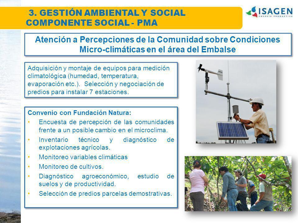 3. GESTIÓN AMBIENTAL Y SOCIAL COMPONENTE SOCIAL - PMA