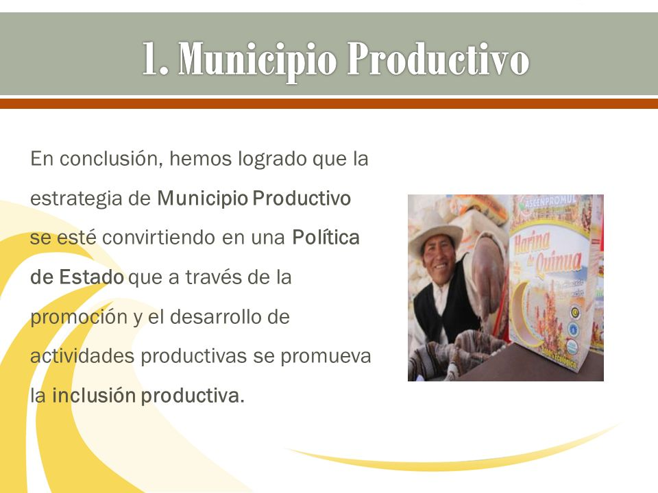 1. Municipio Productivo